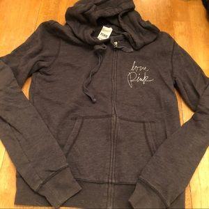 PINK zip up jacket very good cond SZ S NICE